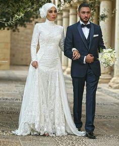 // Wedding Hijab Styles, Modest Wedding Gowns, Muslim Wedding Dresses, African Wedding Dress, Muslim Brides, Dream Wedding Dresses, Pakistan Wedding, Luxe Wedding, Wedding Dressses