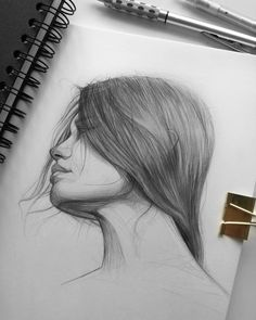 Ani Cinski is a German pencil sketch artist, Illustrator and Graphic Designer. Ani Cinski is drawing great attention to her unique sketch drawings. Pencil Sketch Drawing, Face Sketch, Pencil Art Drawings, Art Drawings Sketches, Portrait Drawing Tips, Portrait Art, Unique Drawings, Amazing Drawings, Girl Faces