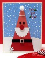 Cute idea for a Santa using paint chip