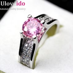 Click link to buy Size 9  Yellow CZ... http://www.jeremiahjewelry.online/products/white-9-pink-blue-yellow-cz-diamond-pave-ring-zirconia-weddings-handmade-topaz-colored-zircon-jewelry-women-anillo-azul-ulove-y006?utm_campaign=social_autopilot&utm_source=pin&utm_medium=pin @JeremiahJewelry.Online