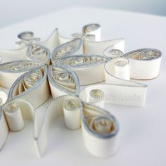 Quilling Snowflake Pattern: Arctic