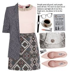 """""""Businesswoman"""" by m-zineta ❤ liked on Polyvore featuring moda, Ted Baker, River Island, Dune, By Terry, CO, thumbsUp! i GlassesUSA"""