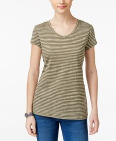 Style & Co Striped T-Shirt, Only at Macy's | macys.com