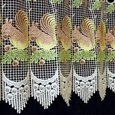 Macrame Lace Cafe Curtains Lace Valances, Lace Curtains, Macrame Rings, Macrame Curtain, Curtain Lights, Cactus Plants, Squirrel, Pattern, Cacti