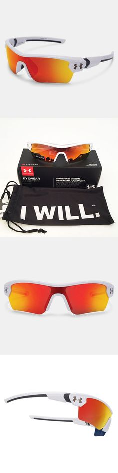 Sunglasses 131411: Under Armour *Youth* Menace Sunglasses Satin White Frame Orange Multi Lens 18274 -> BUY IT NOW ONLY: $48.95 on eBay!