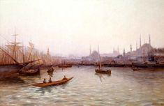 R Auex Haliç ve Tekneler  Tarih: 1903 Istanbul, Nostalgia, Artist, Ottoman, Painting, Photos, Haute Couture, Pictures, Artists