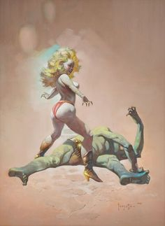 FRANK FRAZETTA - The Countess and the Green Man - 1989 - found in Icon: A Retrospective by the Grand Master of Fantastic Art, Frank Frazetta - 1998 Underwood Books