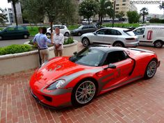 Red Porsche 918 Spyder Spotted in Monaco | automotive99.com