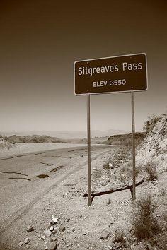 Route 66 - Sitgreaves Pass, on old Rt. 66 in the Black Mountains of Arizona.