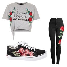 """""""Roses 🌹"""" by jashlee-1 on Polyvore featuring River Island and Vans"""