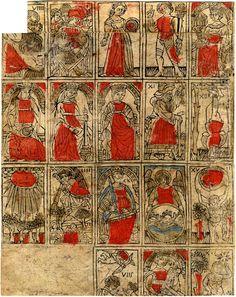 Early form of north Italian tarot cards