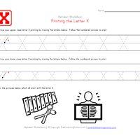 Traceable Alphabet Letter X
