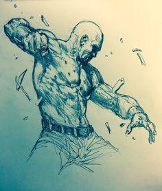 """Luke Cage"" Pencil on paper"