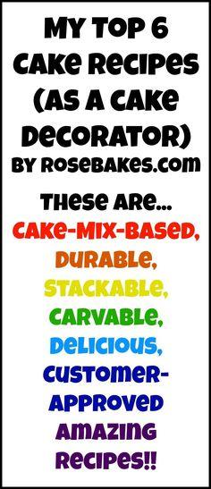 Top 6 Cake Recipes