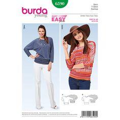 Misses Top Burda Sewing Pattern 6590. Size 8-20.