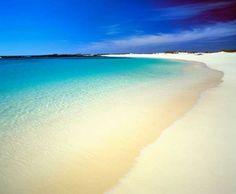 Playa en el Parque Natural de Corralejo, al norte de Fuerteventura.