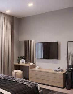 Warm Bedroom, Master Bedroom Interior, Room Design Bedroom, Bedroom Furniture Design, Home Room Design, Home Bedroom, Bedroom Decor, Bedroom With Tv, Bedroom Ideas