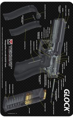 Glock® 3D Cutaway Handgun Pistol Firearm Cleaning Maintenance TEKMAT @aegisgears