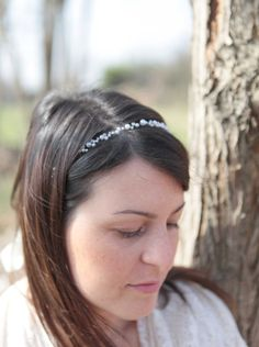 Pearl head wrap bridal headpiece wedding hair by Elibre on Etsy, €30.00