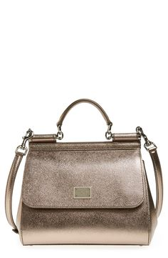 Lusting for this gorgeous metallic leather Dolce&Gabbana satchel.