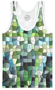 Mosaik Typography by artistic photography - Women's Trinity Tank - $45.00