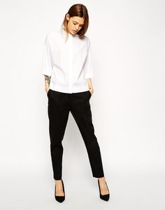 ASOS | ASOS Slim Cigarette Linen Trouser at ASOS