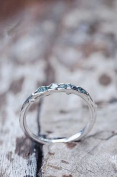 Handmade Rough Blue Diamond Hidden Gem Ring   GardensOfTheSun on Etsy