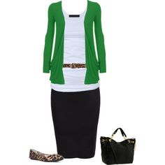 A fashion look from March 2015 featuring white shirt, black skirt and flat shoes. Browse and shop related looks.