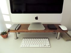 NORDIC STYLE WOODEN Monitor/Computer Stand by sticktakstickers