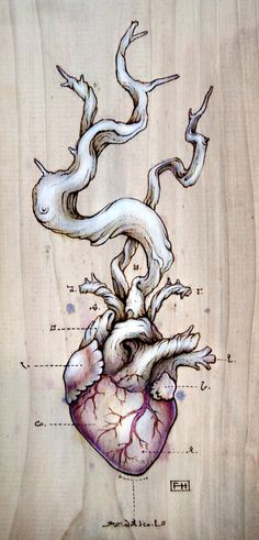 Fay Helfer has a series of pyrography hearts that are quite stunning.