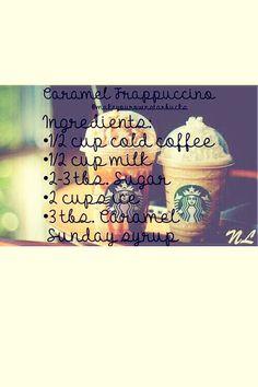 """Starbucks More """"caramel frapp recipe"""" Caramel Frappuccino, Starbucks Caramel, Starbucks Coffee, Iced Coffee, Starbucks Diys, Caramel Frappe Recipe, Coffee Break, Homemade Starbucks Recipes, Carmel Frappe"""