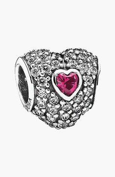 Pandora Design 'In My Heart' Pavé Heart Charm on shopstyle.com