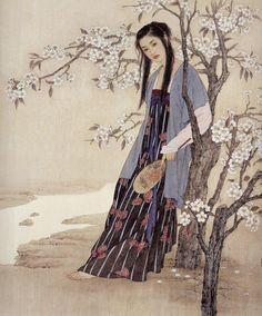 Wang meifang and Zhao Guojing Wang Meifang, is a second-class artist at the Tianjin Academy of Arts and Crafts. Zhao Guojing, is a first-class painter at the Tianjin Academy of Painting. Figure Painting, Painting & Drawing, Woman Painting, Life Drawing, Asian Woman, Asian Girl, Erin Hanson, Oriental Dress, Art Asiatique