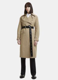Helmut Lang Utility Mackintosh Coat in Beige   LN-CC