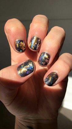 Foil nail art by me :)
