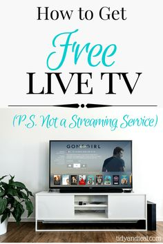 How to Get Free Live TV Right Now: PS Not a Streaming Service   Save Money   Television Options   Save on TV   Budget   Cut Cable   Household Expenses   Personal Finance   Smart Money Tips