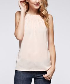 Another great find on #zulily! Blush High-Neck Top by Dance & Marvel #zulilyfinds