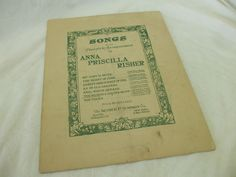 "VINTAGE SHEET MUSIC! ""THE MOON IS A SILVER SKIFF"" ANNA P. RISHER! 1919! AS IS!"