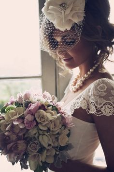 Dress, want. Hairstyle, want. Makeup, want. Bouquet, want. Basically...I want to look like this on my wedding day. It's me in a nutshell :)