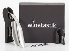 Winetastik Premium Wine Opener - Compact Lever Corkscrew, 3 Piece Set with Foil Cutter and Extra Spiral Worm - Comes in Sleek, High End Flip Style Gift Box Winetastik http://www.amazon.com/dp/B0182MF5MA/ref=cm_sw_r_pi_dp_DraHwb0DDRCCB