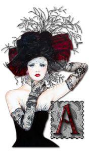 Alfabeto dama sofisticada. | Oh my Alfabetos!