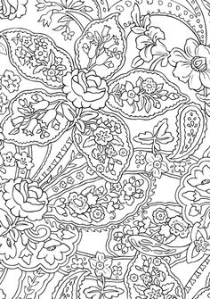BLISS Paisley Coloring Book: YOUR PASSPORT TO CALM  by: Marty Noble, Kelly A. Baker, Robin J. Baker -  Welcome to Dover Publications - COLORING PAGE 3