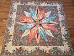 Vintage Compass, Quiltworx.com, Made by Julie A Connell Vintage Compass, Foundation Paper Piecing, Vintage Patterns, Quilt Patterns, Bohemian Rug, Quilting, Fabric, How To Make, Inspiration