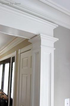 Love the molding detail around this doorway - it makes such a huge difference!