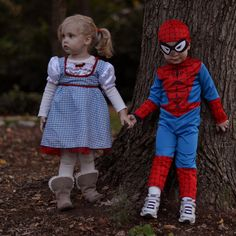 Dorothy from Wizard of Oz and spiderman [cousin kenneth] by katie.cupcake, via Flickr