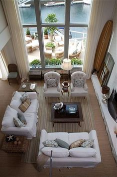 A living room with a view to die for.