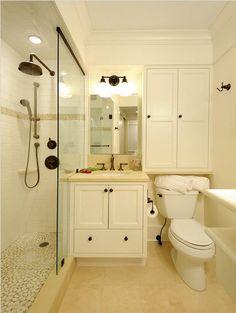 Over Toilet Storage Small Bathroom Redo, Blue Bathroom Paint, Small Bathroom Ideas On A Budget, Bathroom Vanity Decor, Bathroom Flooring, Bathroom Interior Design, Bathroom Color Schemes, Bathroom Colors, Over Toilet Storage