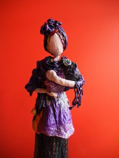 Most of the sculptures shown are completed using a textile hardener, Powertex. Refer to the Powertex page for product information. Mother And Baby, Faeries, Art Dolls, Sculptures, Textiles, Statue, Wall Art, Fictional Characters, Attitude