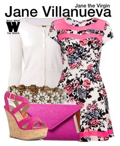 Jane the Virgin by wearwhatyouwatch on Polyvore featuring polyvore, fashion, style, Madam Rage, Nili Lotan, JustFabulous, Accessorize, television and wearwhatyouwatch
