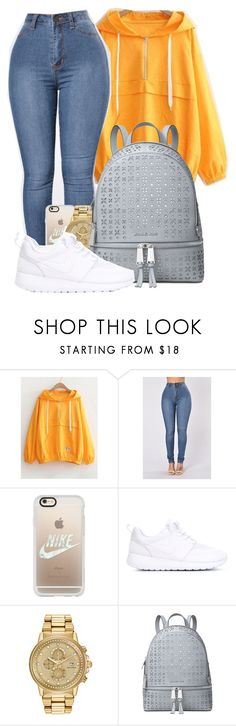 """Love the way you lie"" by mindlesspolyvore ❤ liked on Polyvore featuring Casetify, NIKE and Michael Kors"